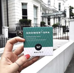 """Showertabs """"Energizing Mint"""" by WALTZ 7 Spa, Mint, Letter Board, Lettering, Drawing Letters, Peppermint, Brush Lettering"""