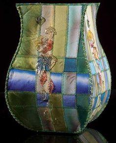 Silk Ribbon Vessel II by Larkin Jean Van Horn
