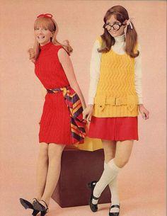 Crimson & Gold • 1960s Sweater Dress Vest Turtleneck Patterns • 60s Vintage Cabled Ribbed Zigzag Knitting Pattern • Retro Women's Knit PDF by TheStarShop on Etsy