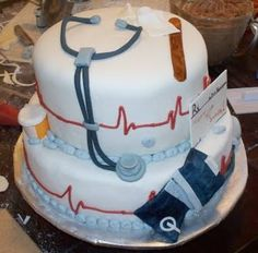 nurse and doctor cake