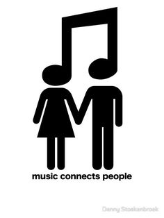 'music connects people' Sticker by Denny Stoekenbroek - Musik Music Notes Art, Music Pics, Music Pictures, Music Love, Music Is Life, My Music, Music Stuff, Musik Wallpaper, Music Drawings