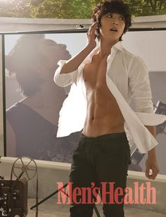 Men's Health --- Jinwoon 2AM He looks pretty healthy if you ask me...
