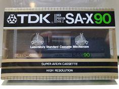 Box of 10 New Sealed TDK SA-C90 Cassette Tape Broken Seal