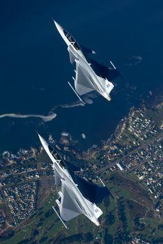 theworldairforce:  South Africa AF JAS 39 Gripen by rcm1066