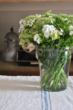 White flowers with great green accent