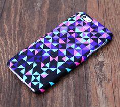 Violet Geometric Design iPhone 6 Case/Plus/5S/5C/5/4S Case #534