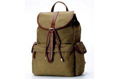La Poet Women's Water Resistant Canvas Handbag Backpack (Olive): Amazon.co.uk…
