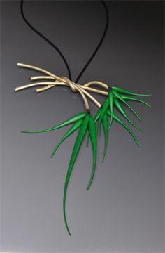 Sprig necklace by Idaho sculptor Kristin LeVier. 2013.