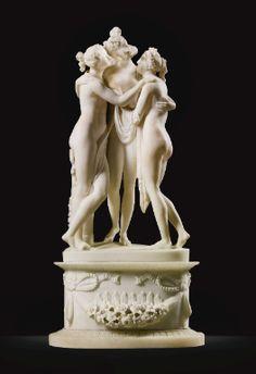 AFTER ANTONIO CANOVA (1757-1822)  ITALIAN, ROME, 19TH CENTURY  THE THREE GRACES