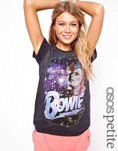 T-shirt à imprimé orné David Bowie