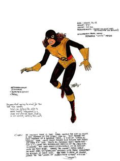 Concept drawing of Kitty Pryde by John Byrne from 1978.