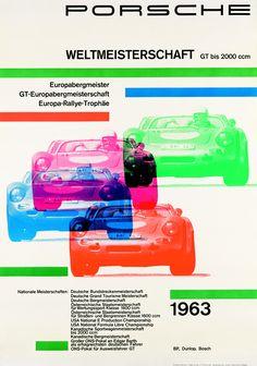 Porsche original poster art