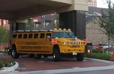 Hummer H2 Limousine School Bus
