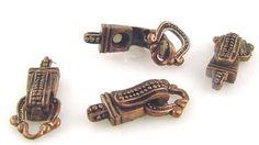 Antique copper Single Strand Magnetic Fold Over Clasp 4125cop - mobileboutique