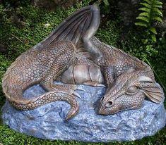 Sleeping Dragon Garden Sculpture Ornament Source by rinacharron Clay Dragon, Dragon Art, Dragon Garden, Dragon Anatomy, Dragon Dreaming, Cool Dragons, Dragon Statue, Fantasy Dragon, Fantasy Art