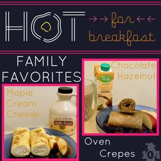I'm kicking off #hotforbreakfast with our family favorite, crepes in the oven. Easy and error-proof.