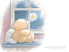 forever friends - bear looking at a star