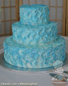"Inspo from our friends! Design W 0444 | Butter Cream Wedding Cake | 14"" 10"" 6"" 