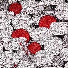 funny animal fabric Sheep & Yarn with comic sheep as balls of wool with knitting needles etc. funny animal fabric Sheep & Yarn with comic sheep as balls of wool with knitting needles etc. Knitting Quotes, Knitting Humor, Crochet Humor, Knitting Projects, Knitting Patterns, Sewing Projects, Yarn Bombing, Guerilla Knitting, Sheep Fabric