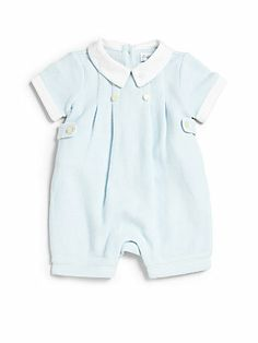 Ralph Lauren Infant s Pleated Pique Shortall Baby Suit 78220d086