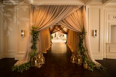 Anna and Spencer Photography, Atlanta Wedding Photographers. Draped entry to the cocktail hour & reception space at the Atlanta St. Regis.