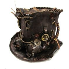 Steampunk Hat Steampunk Accessories ❤ liked on Polyvore featuring accessories, hats, steampunk, steampunk hat and steam punk hats