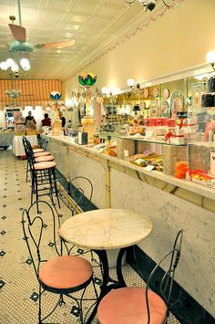 Aglamesis Soda Fountain - Cincinnati, OH | Talk about a blast from the past. You can also grab a shake in a glass.