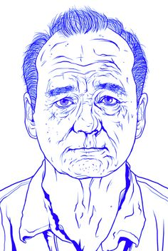 Bill Murray Illustration by Jon Defreest, via Behance