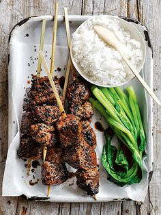 Sriracha Honey And Sesame Beef Skewers | Donna Hay