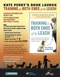 Join us at Petco - Union Square from 1-3pm on Sat Nov 3 for KATE PERRY's book launch sponsored by the Petco Foundation!! Get your copy signed, enjoy live music, food, drinks & more! Raffles, prizes & fun!! Proceeds from book sales will benefit Rock & Rawhide!     Facebook invite here ---> http://www.facebook.com/events/164261663698112/
