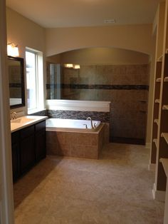 Beautiful Master Bath Walk In Shower With Tile Galore David Weekley Homes Model Willowcove