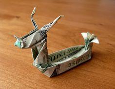 Dollar Origami Dragon Boat v2 by craigfoldsfives.deviantart.com on @DeviantArt