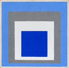 one of my favorites-josef albers. //Josef Albers, Homage to the Square: Blue, White, Grey, 1951 Josef Albers, Anni Albers, Modern Art, Contemporary Art, Square Rugs, Art Moderne, Color Theory, Grey Rugs, Op Art
