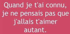 French Love Quotes, Best Quotes, Life Quotes, Hurt Feelings, Some Words, I Love You, Affirmations, Texts, Poems