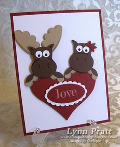 Stampin' Up Owl Punch by Lynn Pratt at Stamp-n-Design: Lovie Birthday Mooses