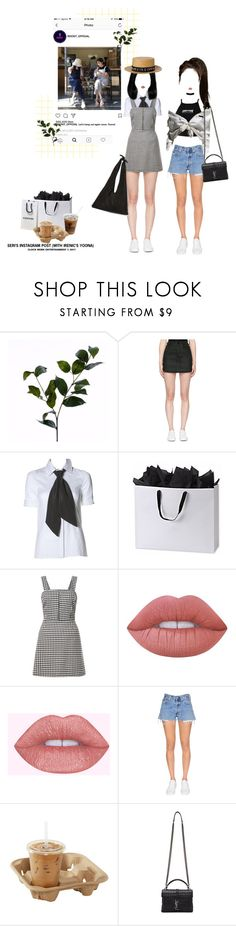 """""""«INSTAGRAM UPDATE - SERI'S POST ON ROCKIT'S OFFICIAL SNS»"""" by cw-entertainment ❤ liked on Polyvore featuring Wyld Home, County Of Milan, Riley, Handle, New Look, Lime Crime, RE/DONE, Yves Saint Laurent and The Row"""