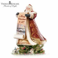 Thomas Kinkade Santa Tree Topper - http://bradford-exchange.goshopinterest.com/collectibles/christmas-trees/thomas-kinkade-santa-tree-topper/