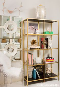 weekly roundup the colors caramel and craft edition diy pinterest gold shelves decor crafts and shelves - Gold Bookshelves
