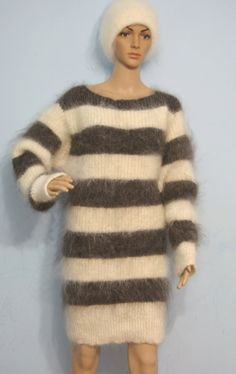 Hand Knit Cable Mohair  Mohair Angora Cashmere Wool от DTolik