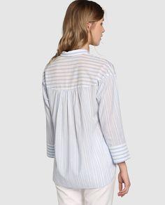 Blusa larga de mujer Zendra El Corte Inglés con estampado de rayas