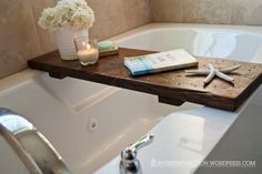 DIY bath tub tray - interiorfunciton.wordpress.com