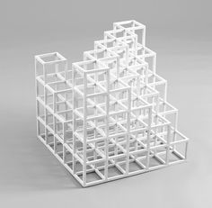 Sol Lewitt, Cubic Construction, 1971 image by MoMA via archpaper And having seen the playground climber in Previ, I'll leave you to yo. Grid Architecture, Watercolor Architecture, Action Painting, Painting On Wood, Art Cube, Arch Model, Famous Art, Art Moderne, Conceptual Art