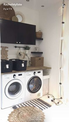 Diy Design, Interior Design, Handmade Table, Patio, Stacked Washer Dryer, Mudroom, Laundry Room, Living Room Designs, Sweet Home