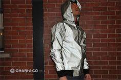Hugeblocks x Manik – Black Reflector (Night Rider) Reflective Cycling Jacket