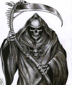 The actual figure of the Grim Reaper seems to be a merging of various influences. Description from necromoprhvsfellowship.blogspot.com. I searched for this on bing.com/images