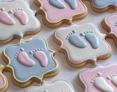 Pastel decorado Baby Cookies una docena por thesweetesttiers