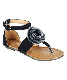 Loving this Black Kindly Sandal on #zulily! #zulilyfinds