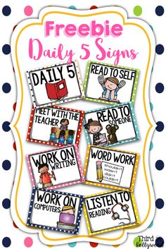 Teach Your Child to Read - FREEBIE! Daily 5 Signs Recording Sheet - Give Your Child a Head Start, and.Pave the Way for a Bright, Successful Future. Daily 5 Reading, First Grade Reading, Guided Reading, Reading Lessons, Teaching Reading, Teaching Ideas, Reading Stations, Literacy Stations, Reading Centers