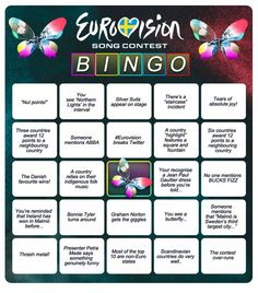 10 My Logo Idea For Eurovision Ideas Bingo, Eurovision France, Hetalia, Terry Wogan, Eurovision Songs, Power Generator, Drinking Games, World Peace, Party Snacks