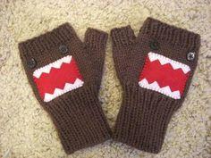 domo-kun fingerless gloves